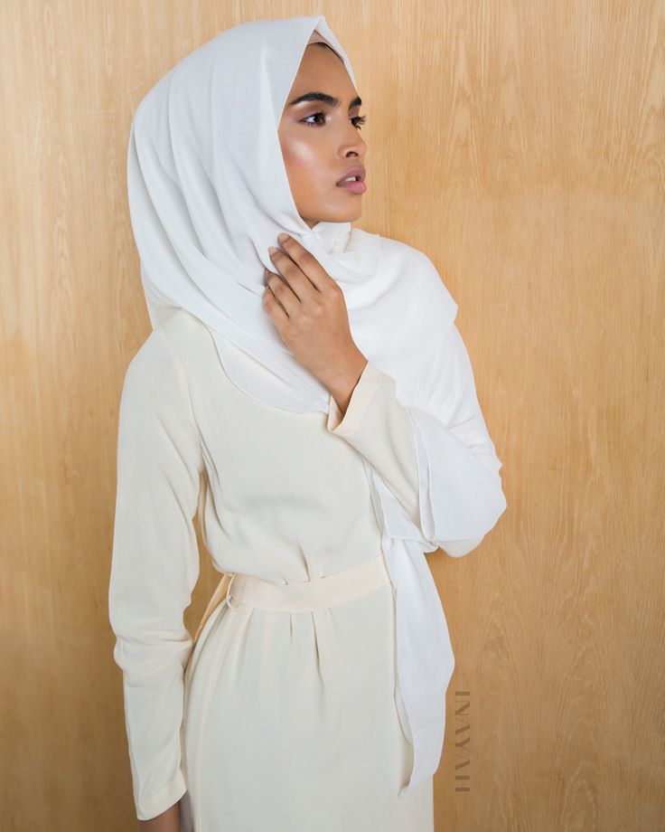 Comfort and modest high-fashion. Dress up or dress-down in our new range of midis for a comfortable day out or a chic night-time ensemble - Yellow Belted #Midi with Slits - available in-store and online!  Off-white Maxi Georgette #Hijab - www.inayah.co