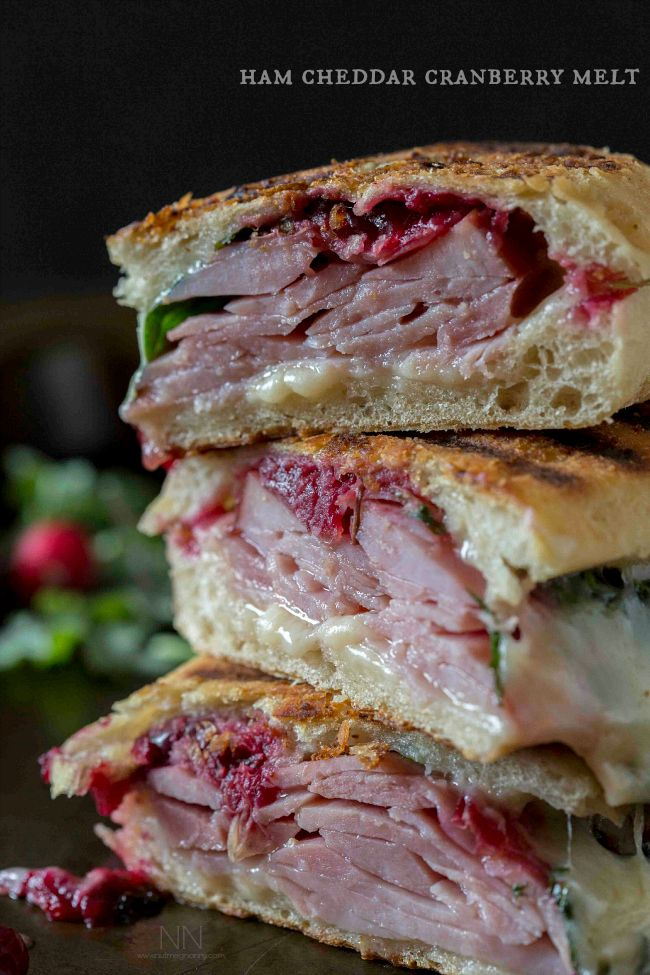 ham cheddar cranberry melt sandwich