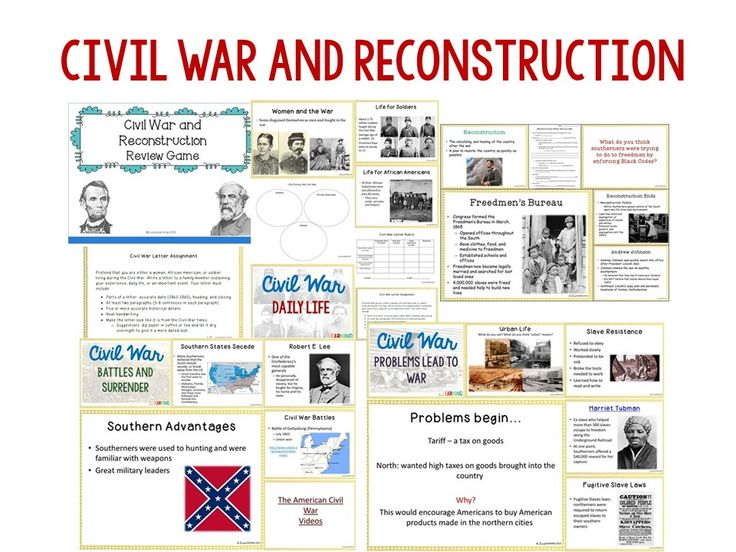 civil war lincoln reconstruction study guide Download the lincoln and reconstruction  bridge into the study of the reconstruction  reconstruction plans for after the civil war and the.