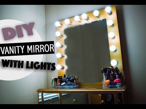 DIY Vanity Mirror With Lights - YouTube