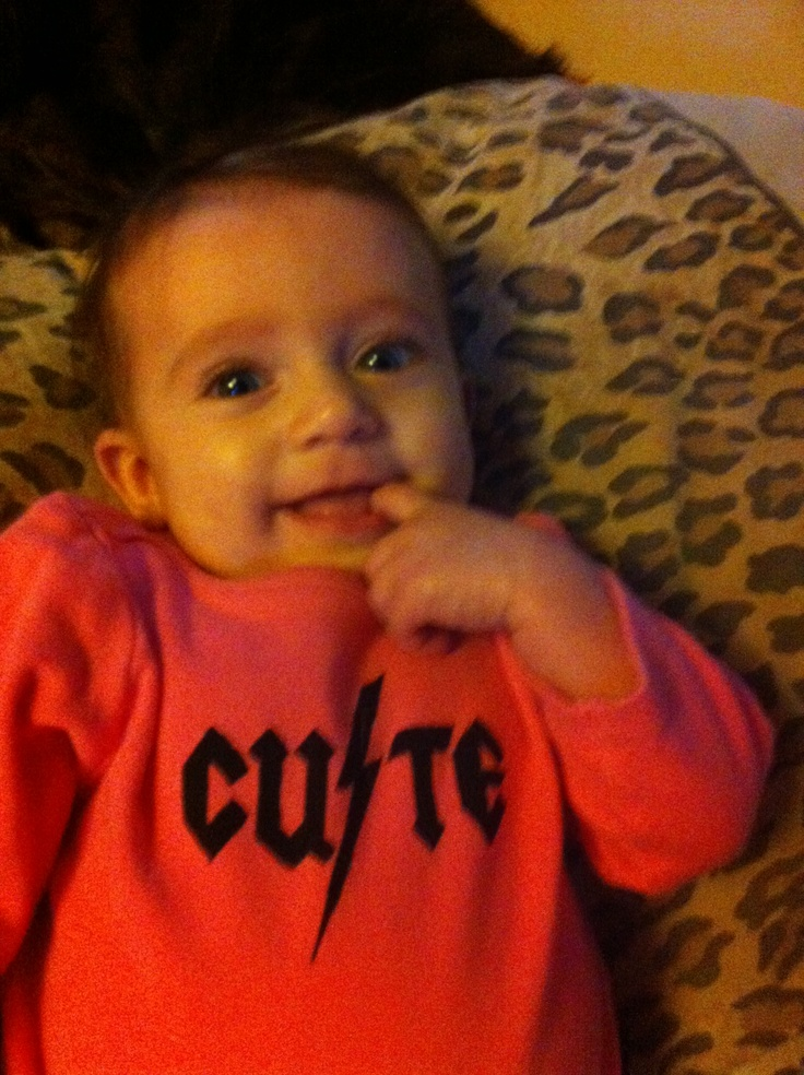 My granddaughter knows just what a cutie she is.