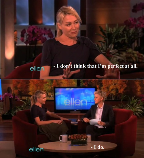 Ellen and Portia - I just died from cuteness overload.