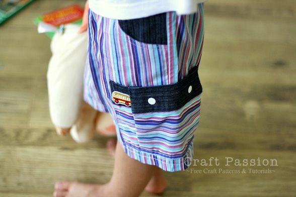 Sewing | Boy Shorts With Cargo Pocket | Free Pattern & Tutorial at CraftPassion.com
