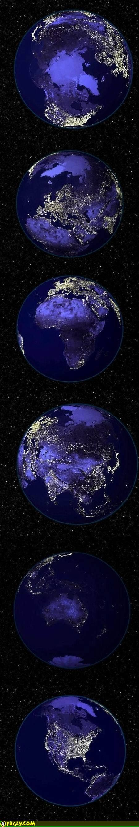 Planet earth at night.