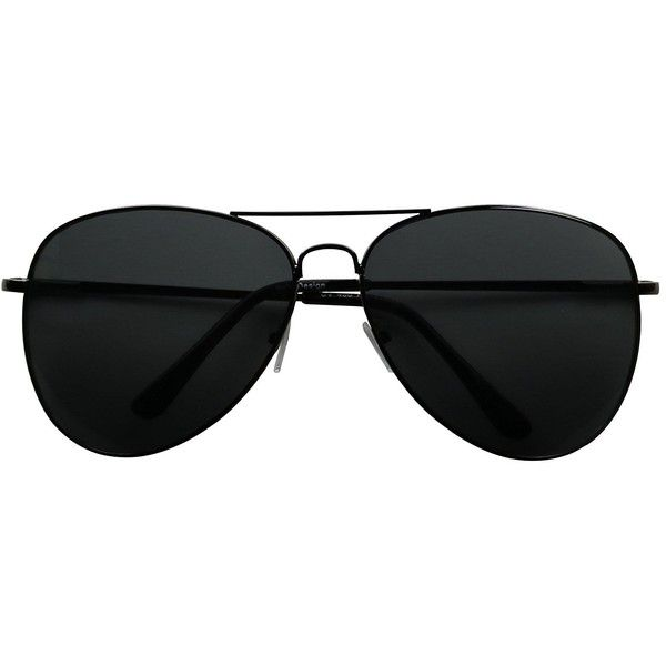 Basik Eyewear Oversized Pilot Aviator XL Wide Frame Extra Large... (18 BAM) ❤ liked on Polyvore featuring accessories, eyewear, sunglasses, aviator style sunglasses, oversized aviator sunglasses, black lens sunglasses, wide glasses and oversized glasses