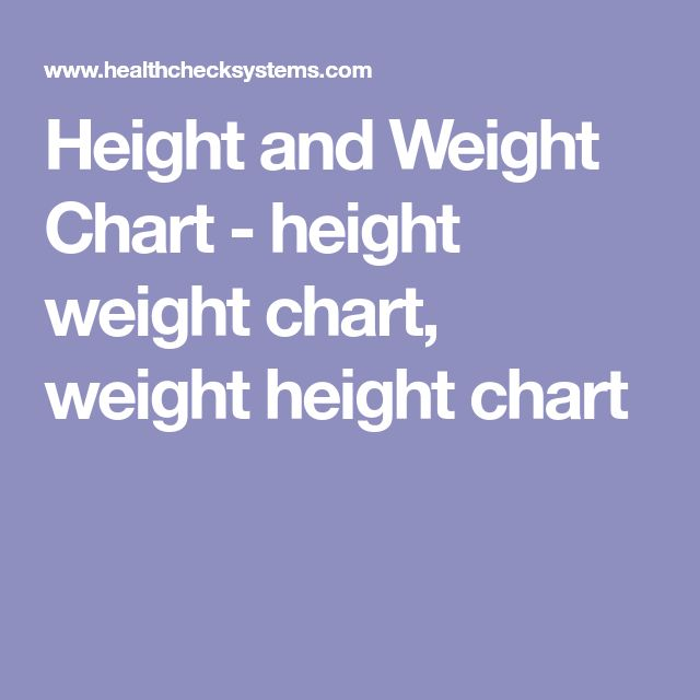 Height and Weight Chart - height weight chart, weight height chart