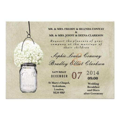 Rustic Baby's Breath & Mason Jar Wedding