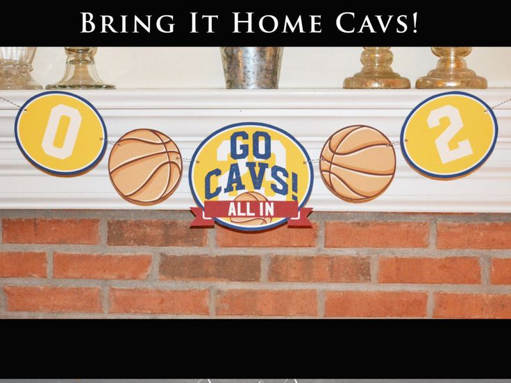 Printable Cleveland Cavs Banner, Instant Download, Cavs Game Day Decor, All In, Cavs Game 7 Decor, Cavs and Warriors Game Decor by PumpkinPiDesign on Etsy