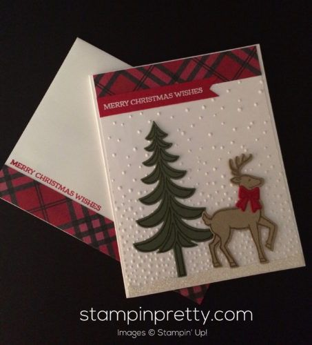 Santa's Sleigh stamp set & framelits dies holiday card.  Mary Fish, Stampin' Up! Demonstrator.  1000+ StampinUp & SUO card ideas.  Read more http://stampinpretty.com/2016/11/a-salute-to-santas-sleigh.html