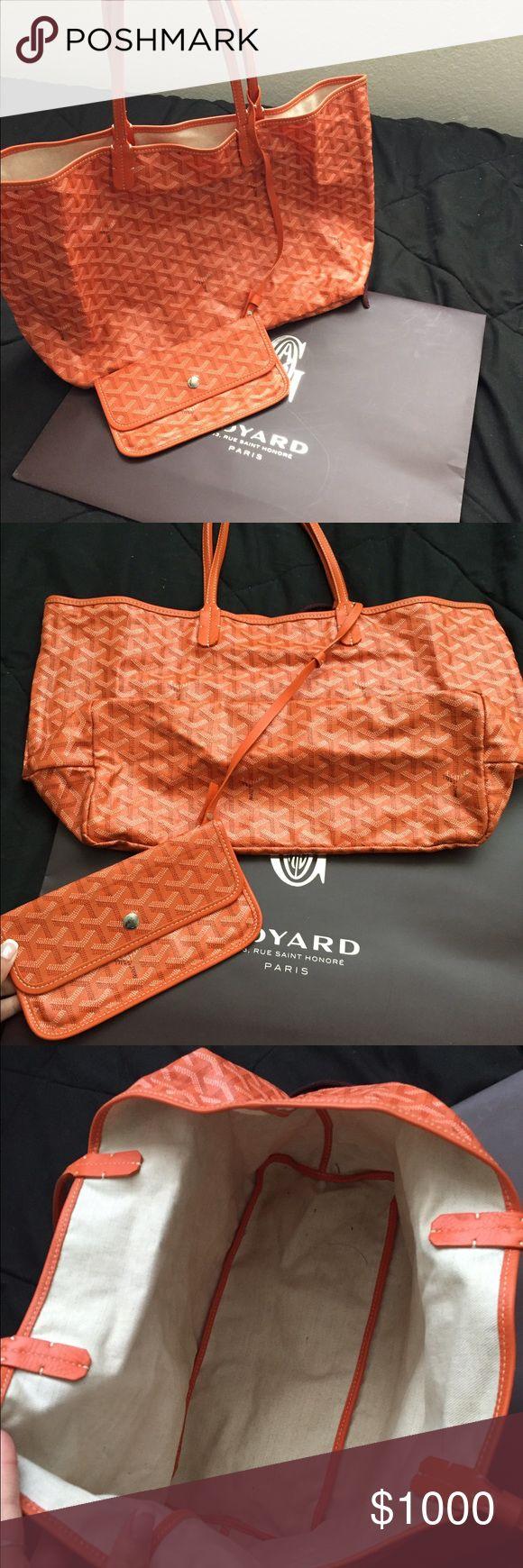Goyard orange bag Beautiful and authentic large Goyard bag for everyday wear! Amazing condition! Goyard Bags Shoulder Bags