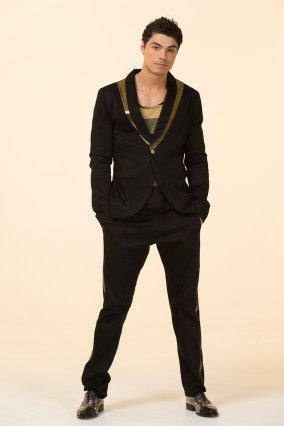 Black with Gold Tuxedo Pants