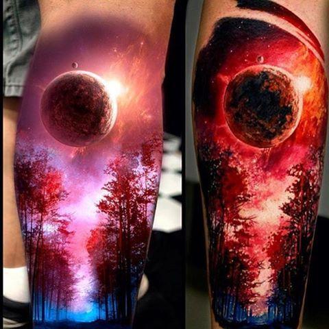 Mindblowing Tattoo! By @tattoosigal _ @arts__gallery