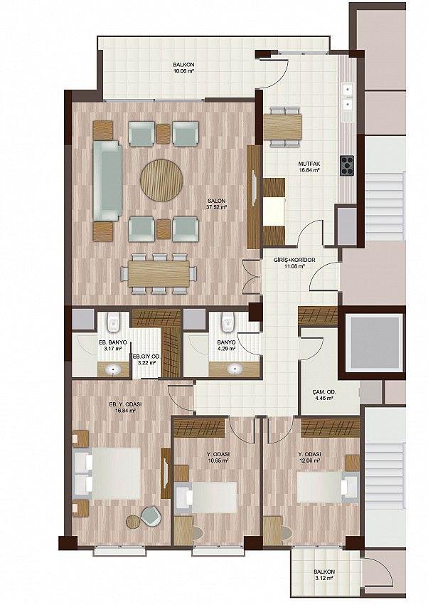 251 best apartman planları images on Pinterest Floor plans - fresh 37 blueprint apartments