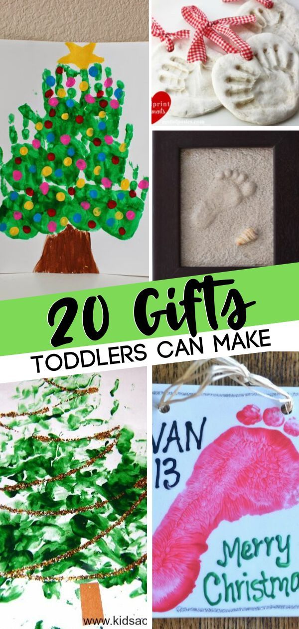 20 Gifts Toddlers Can Make With A Little Help Christmas Crafts For Gifts Toddler Christmas Gifts Christmas Crafts For Toddlers