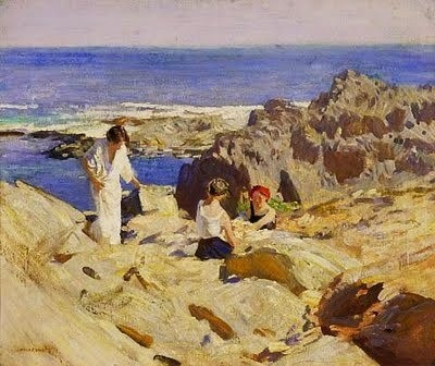 Laura Knight 1877-1970 It's About Time: Beach - Waterside