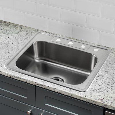 IPT Sink Company 20 Gauge Stainless Steel 25\