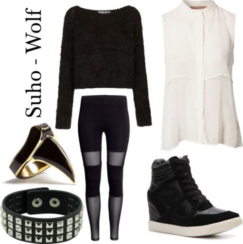 "Outfit inspired by: Suho in Exo's ""Wolf"" MV. Link: http ..."