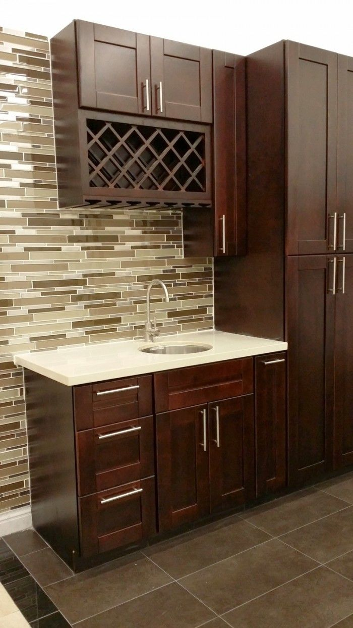 Kitchen cabinets eastern ct - Glass Mosaic Backsplash With Quartz Countertop On Color S Kitchen Cabinets