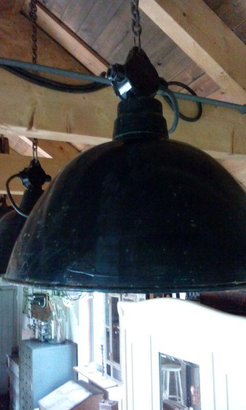 Grote oude fabriekslamp, industriële lamp