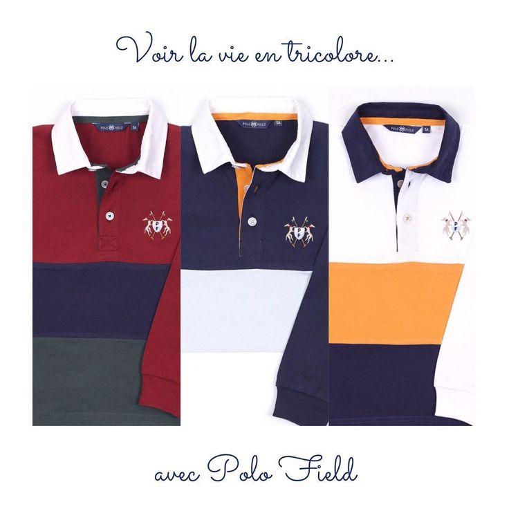 🏈 Polos Rugby Tricolores manches longues en jersey 100% cotton 🏈 . . #couleurs #picoftheday #instapic #instakids #love #polos #collection #coton #colours #cotton #photooftheday #kids #kidswear #kidsstyle #kidsfashion #children #style #kid #mode #chic #enfant #modeenfants #photodujour #enfants #igersfrance #igerslyon #eshop #bonnejournee #lyon #polofield_official