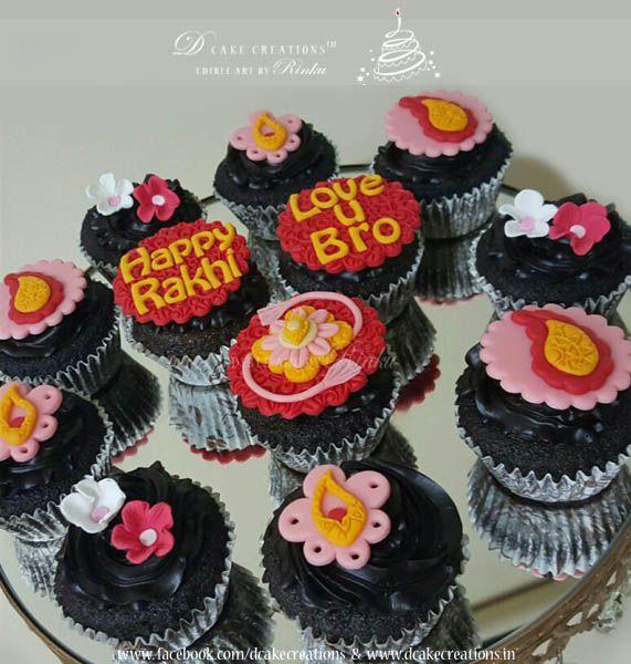 Designer Cupcakes for Raksha Bandhan