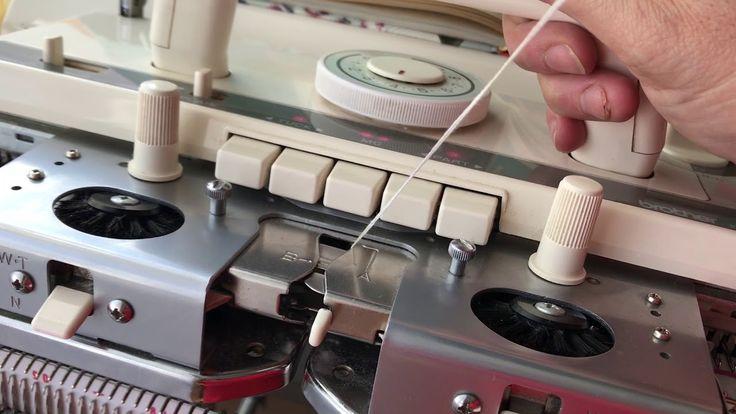 Как вязать ажуры-с таковыми узорами на перфакарточной машине бразер