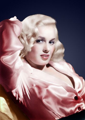 Mamie Van Doren. (Colorized Photo).