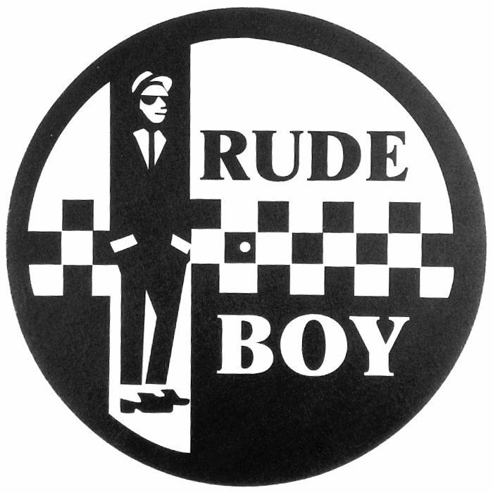 RUDE BOY - Two Tone Rude Boy Slipmat (black and white design, single)