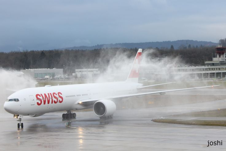 The first Boeing 777-300 from Swiss.