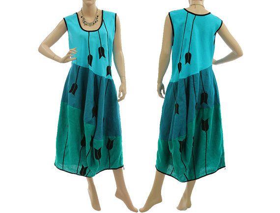 Artsy boho linen long dress summer dress balloony von classydress