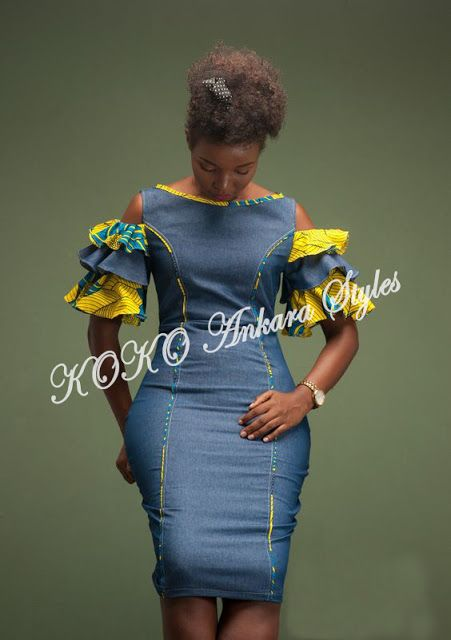 Womens Clothing Flared dress Jeans Dress African Print dress Lace Dress Lace Dress Denim and Lace dress Denim and Lace Denim Dress
