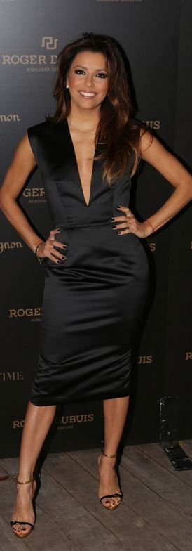 Eva Longoria: Dress – Cushnie et Ochs  Shoes – Giuseppe Zanott; love this look an hair!!