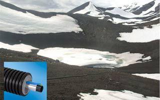 Tuberías preaisladas @Ecoflex para el suministro de agua para calefacción en la base antártica del Ejército de Tierra #acs