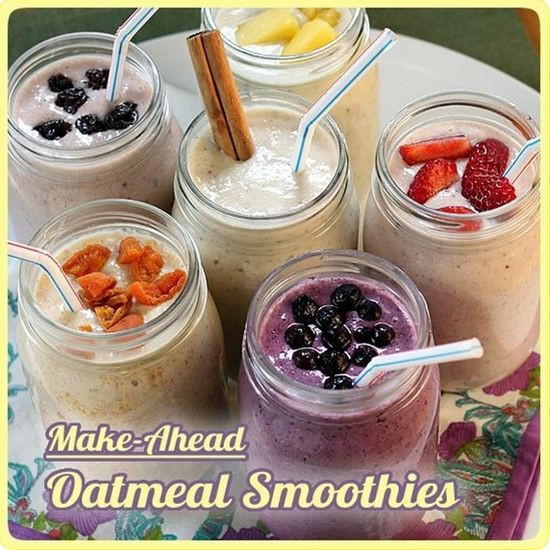Make Ahead Oatmeal Smoothies - Click image to find more food & drink Pinterest pins