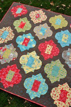 Moroccan tile quilt