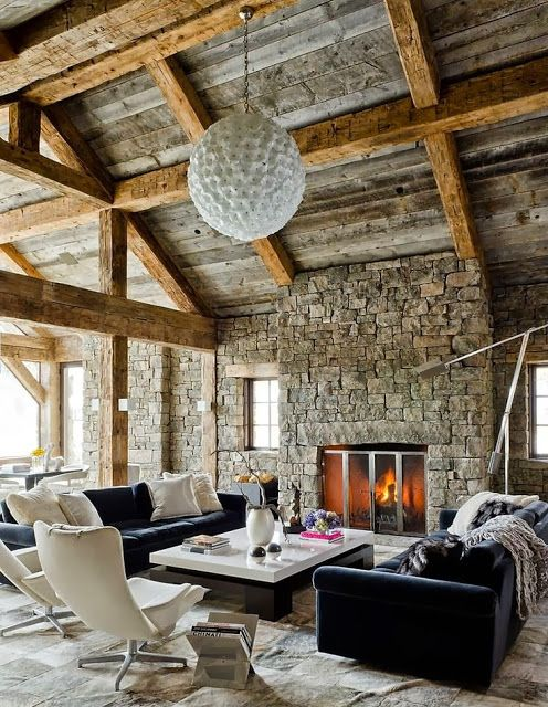 ski chalet in Big Sky, Montana | designed by On Site Management.