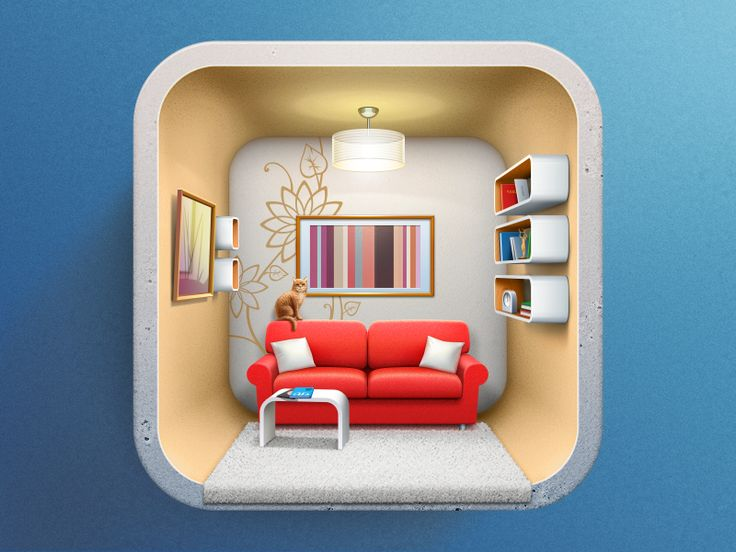 Here is one another icon for an iOS application. The icon was designed rather long ago, but only now we are able to show to anyone. The app is about planning of the interior in your house, so this ...