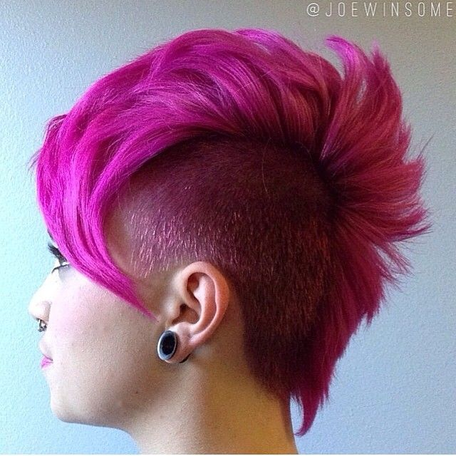 Sparks Color Magenta Mania #mohawk #pink #hair