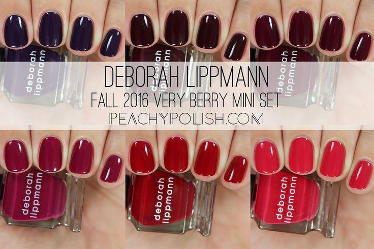 Deborah Lippmann Very Berry Mini Set | Peachy Polish