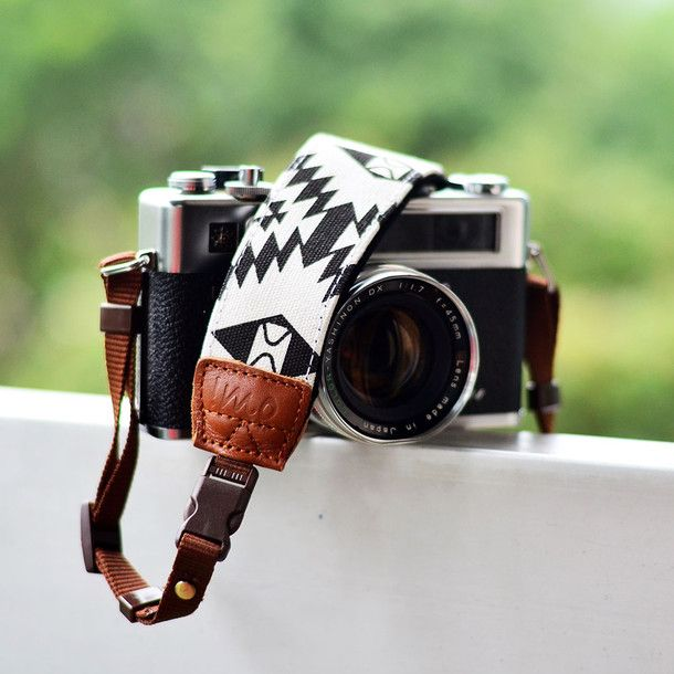 Crazy for this printed camera strap!
