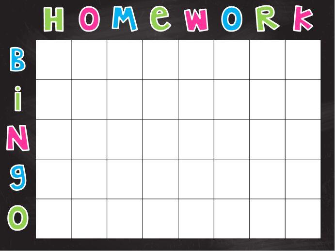 Homework Bingo - a classroom incentive. Classroom Management
