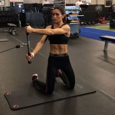 Cables on Monday 1. 12 Reps each 2. 15 each side 3. 12 Reps each 4. 12 Reps each side 3-5 rounds #alexiaclark #queenofworkouts #fitforareason #queenteam #fitness #fit #workout #motivation