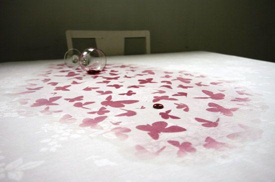 Christine Bjaadal, pattern appears when spill