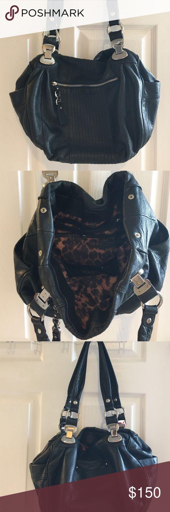 B. Makowsky black leather handbag Extremely soft B. Makowsky leather handbag. Several interior and exterior pockets! b. makowsky Bags Shoulder Bags