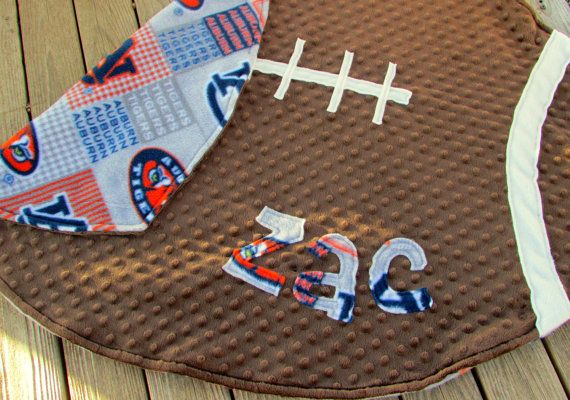 Auburn University Tigers Football Baby Blanket by LovePitterPatter