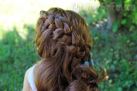 American girl doll hairstyle side Dutch braid