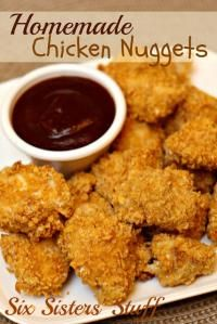Six Sisters Homemade Chicken Nuggets will be a hit with the kids and they are healthier!