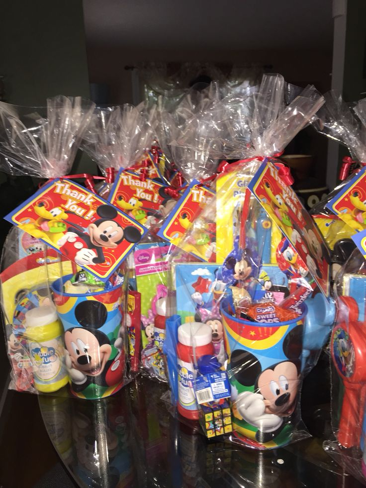 Mickey Mouse clubhouse candy bags