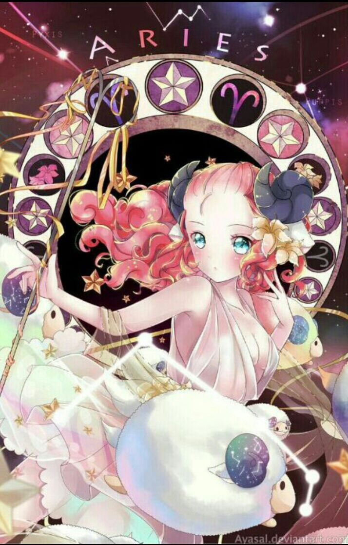 Oroscopo anime ☆ astratto segni zodiacali anime arte delle