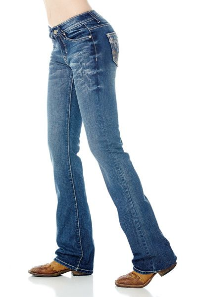 Cowgirl Up Womens Blue Cotton Blend Summer Dance Medium Stonewash Jeans